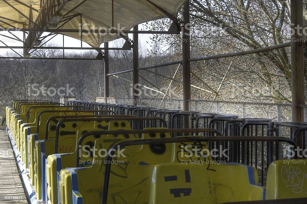 Old roller coaster stock photo