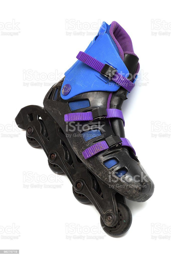 old roller skates royalty-free stock photo