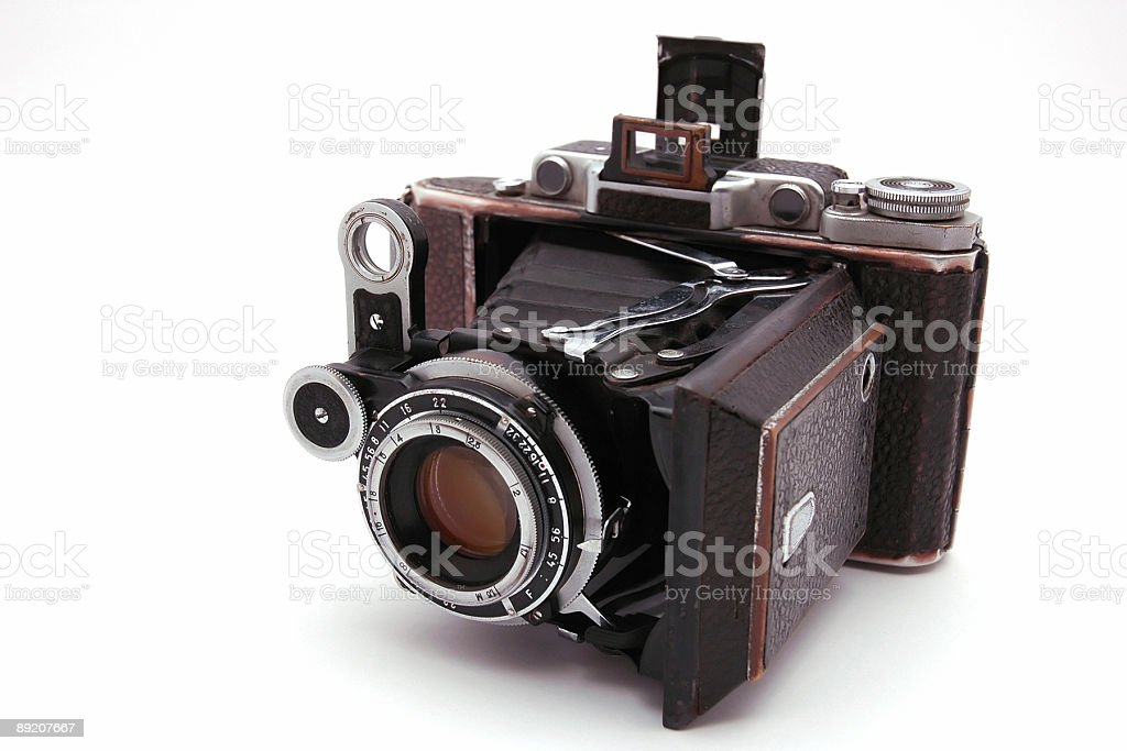 old roll-film camera royalty-free stock photo