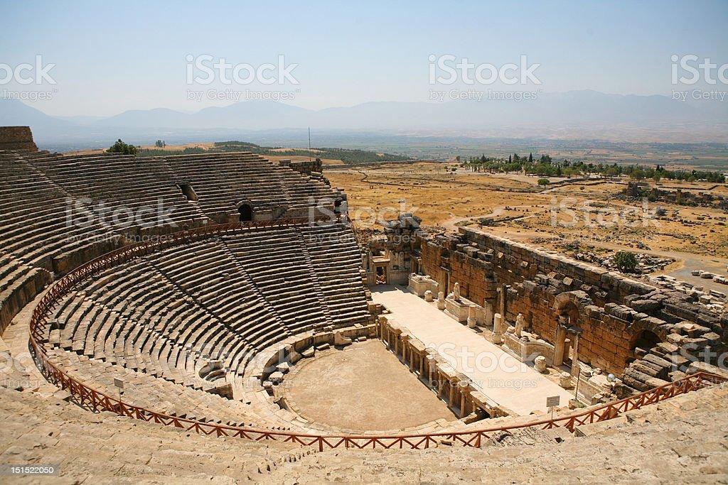Old Roman Amphitheater stock photo