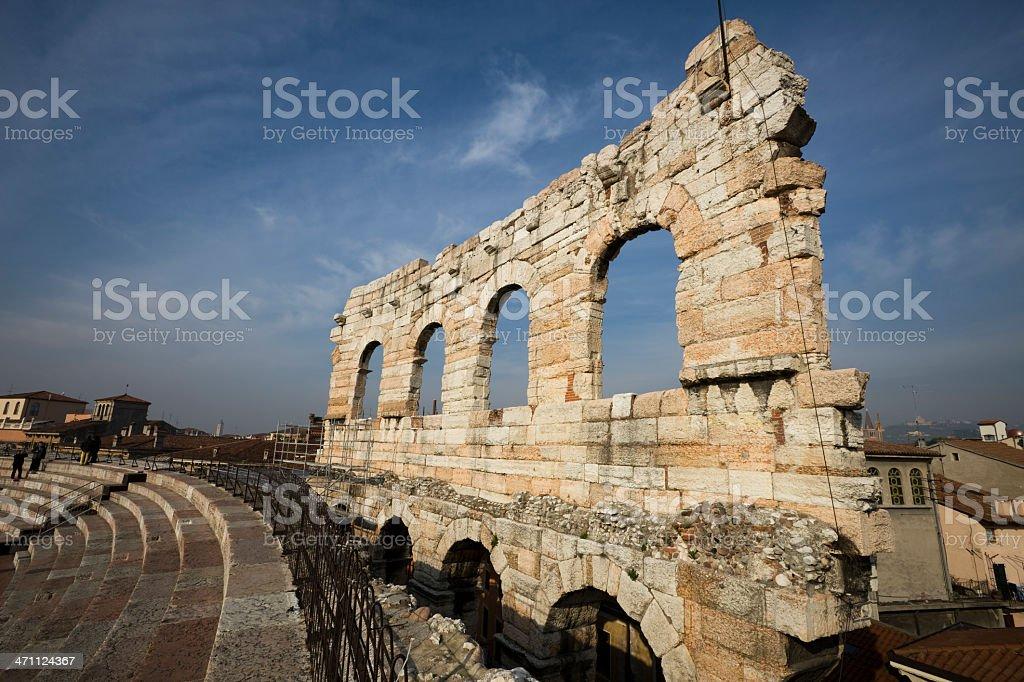 Old Roman Ampitheater in Verona royalty-free stock photo