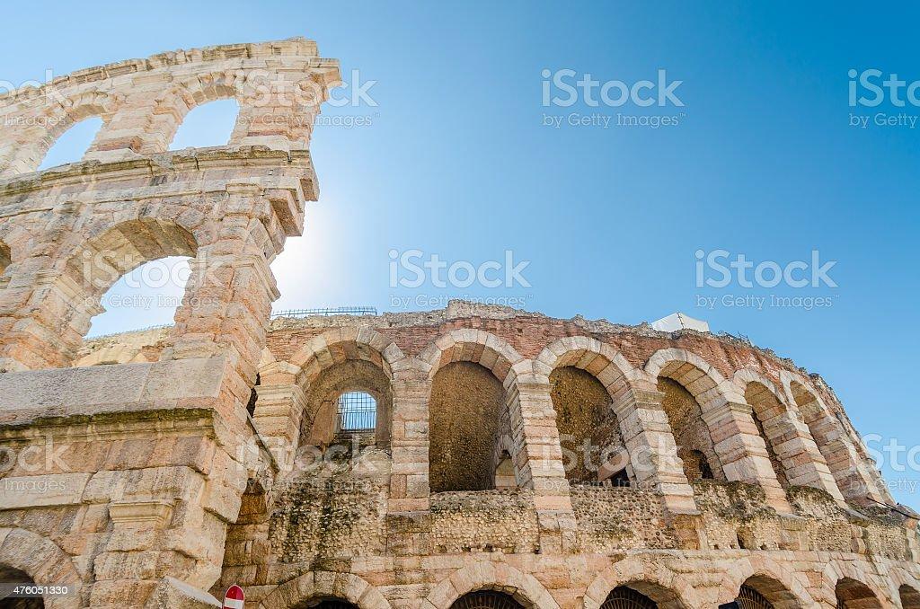 Vecchia arena romana, antico anfiteatro romano di Verona, Italia - foto stock