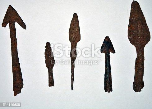 istock old Roman arrows 514149606
