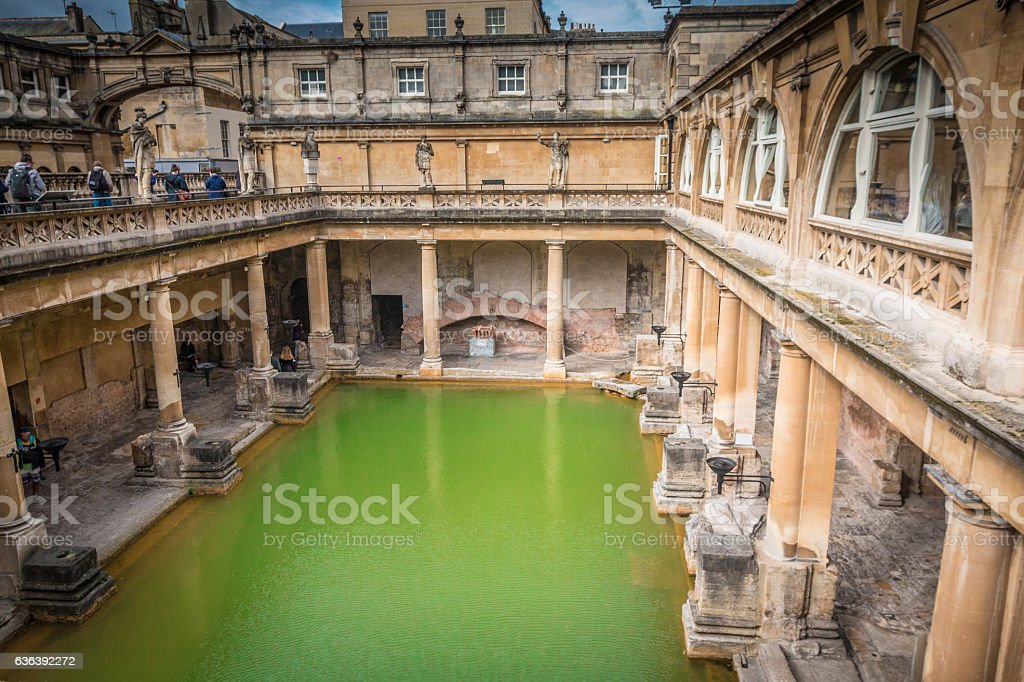 Old Roman Bath In Bath Spa England Stock Photo & More Pictures of ...