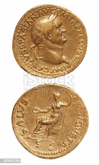 istock Old Roman Coins 182661258