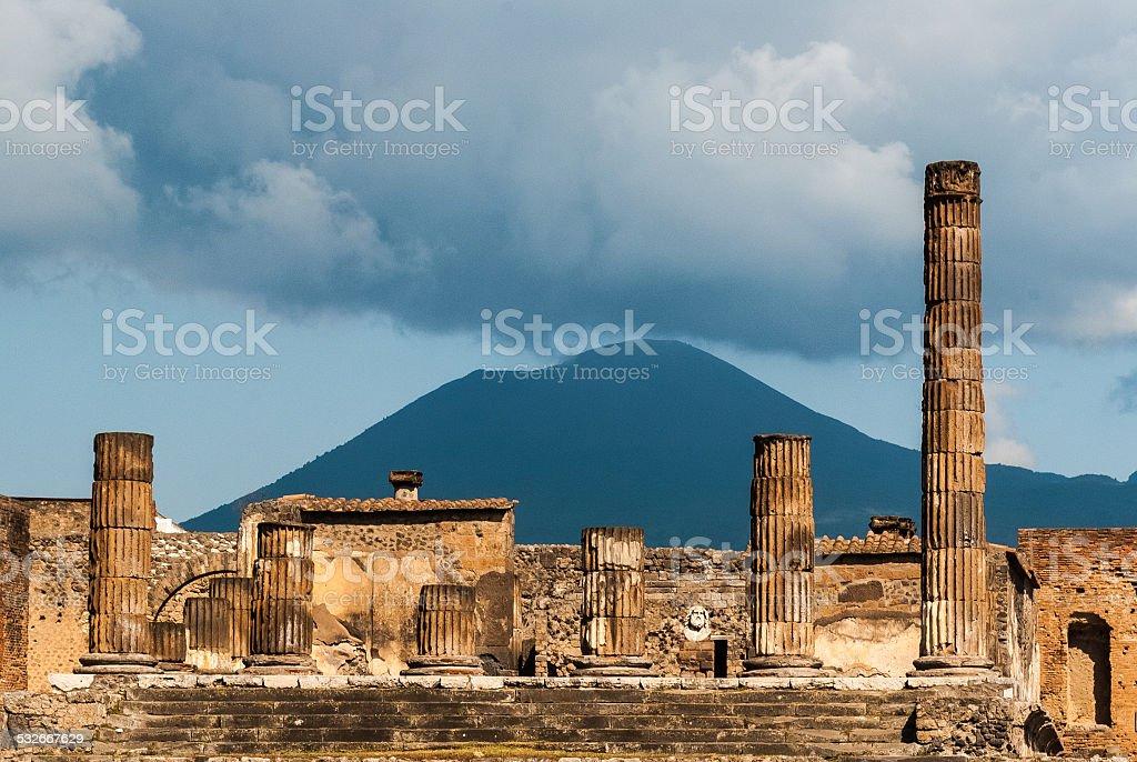 Old Roman temple stock photo