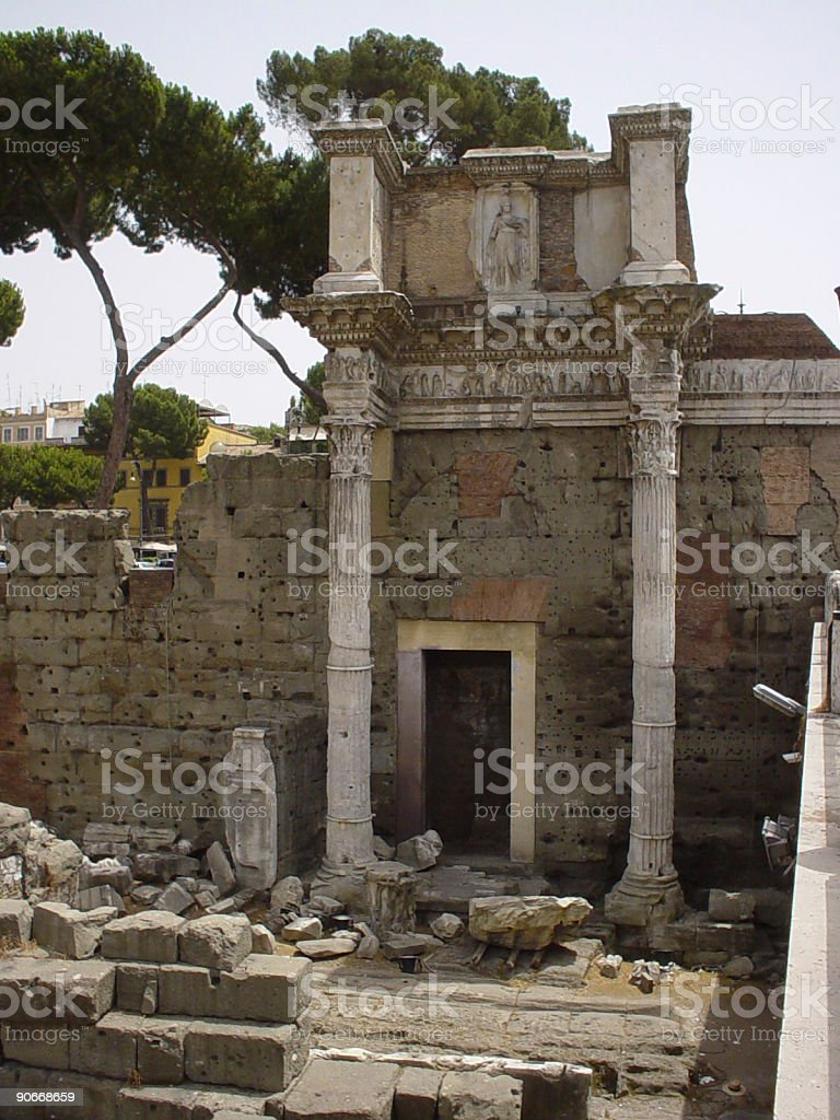 Old Rome building royalty-free stock photo