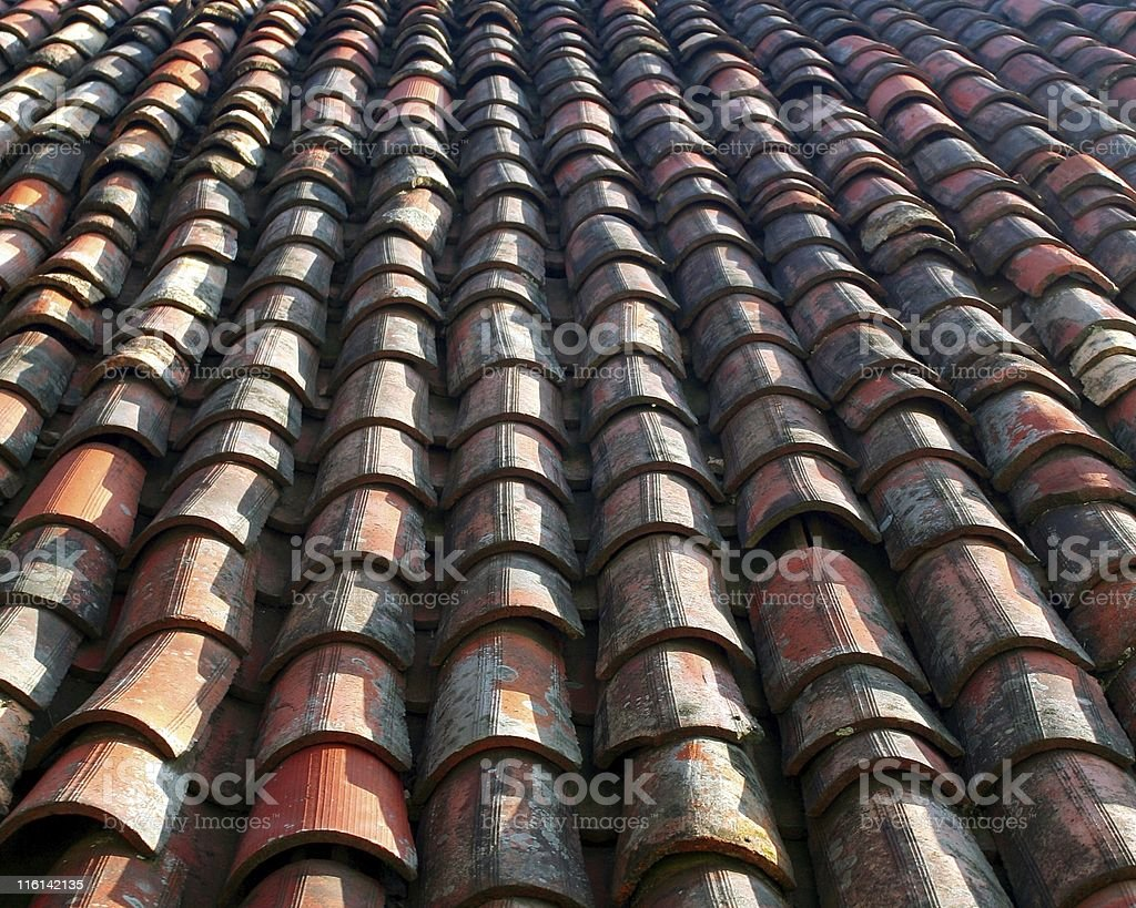 Old roof tile background royalty-free stock photo
