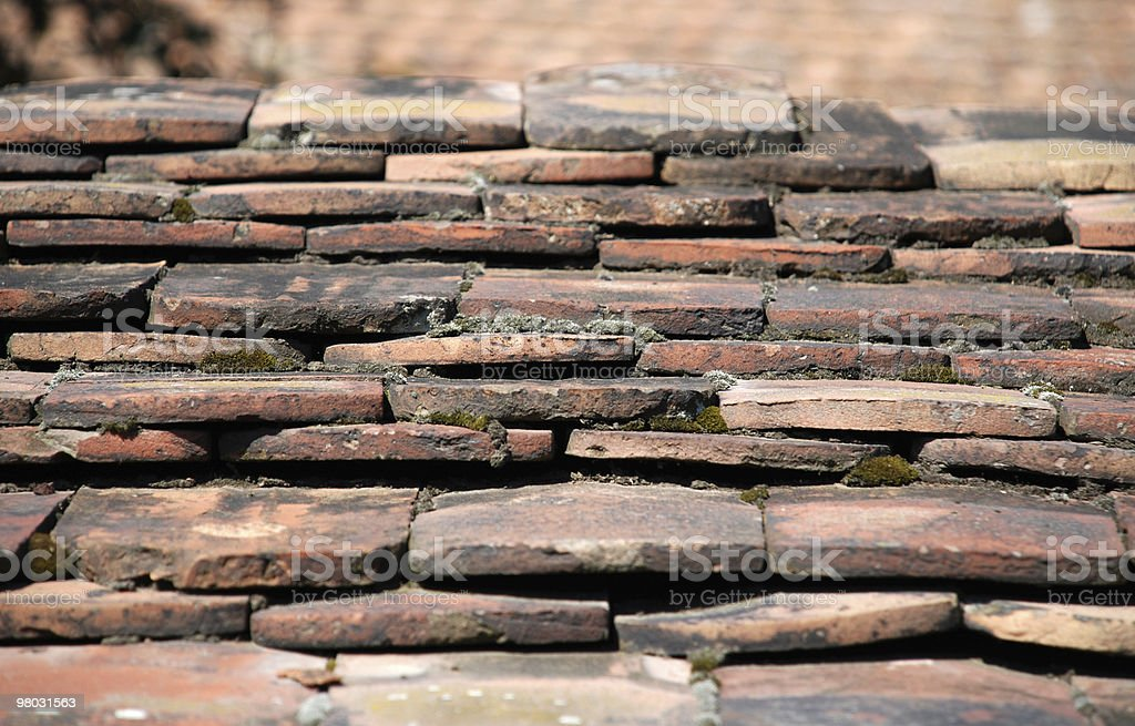 old roof tiles royalty-free stock photo