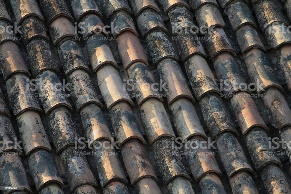 old roofing royalty-free stock photo