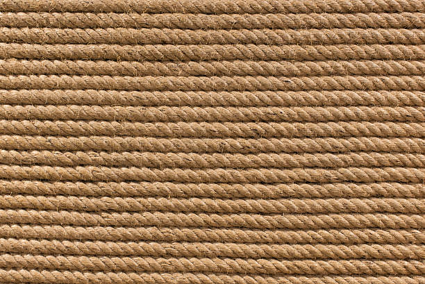 old rope background - knotted wood stock pictures, royalty-free photos & images