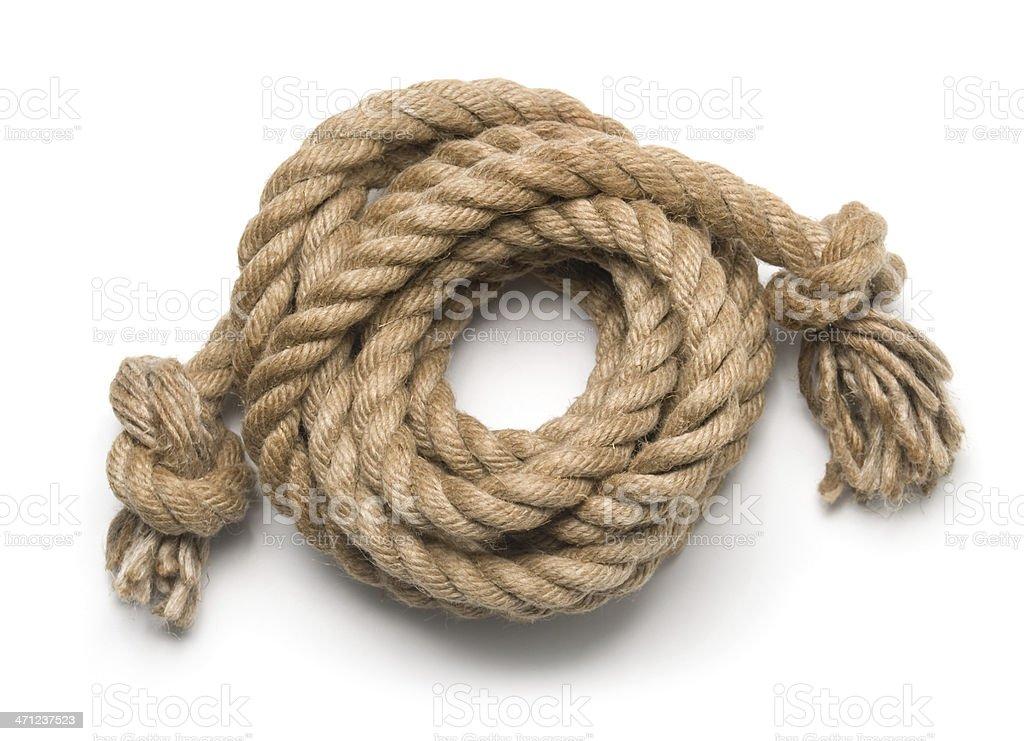 Alte Seil isoliert auf weiss – Foto