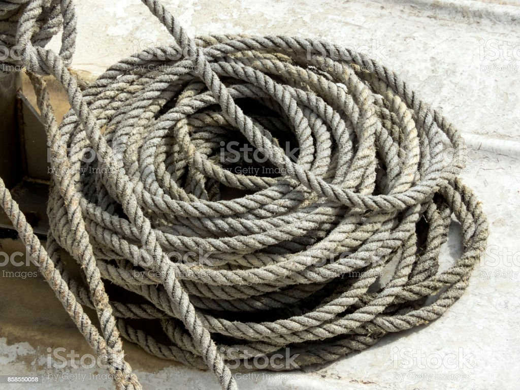 old rope vintag stock photo