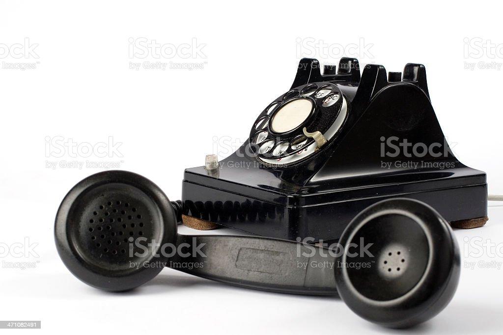 Old rotary phone royalty-free stock photo