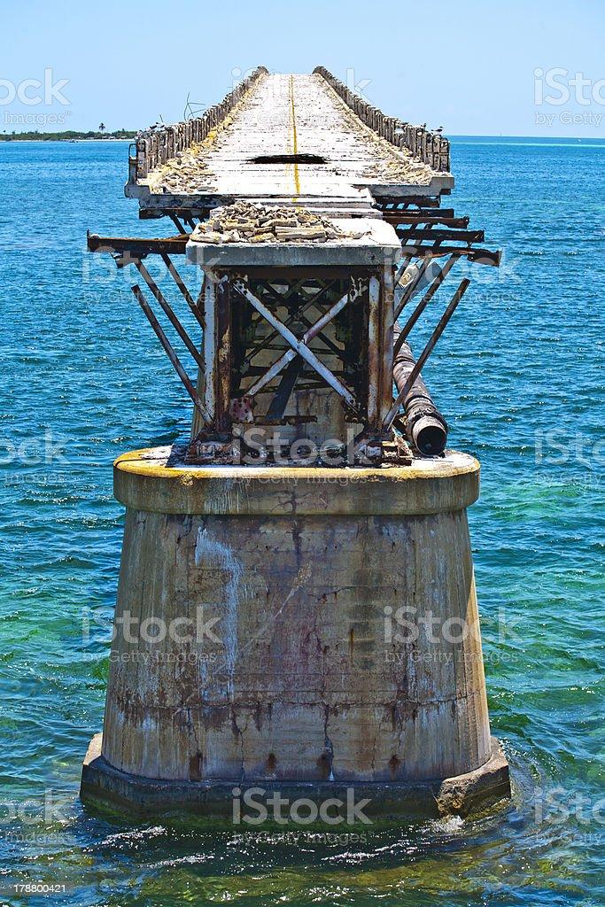 old rotten bridge royalty-free stock photo
