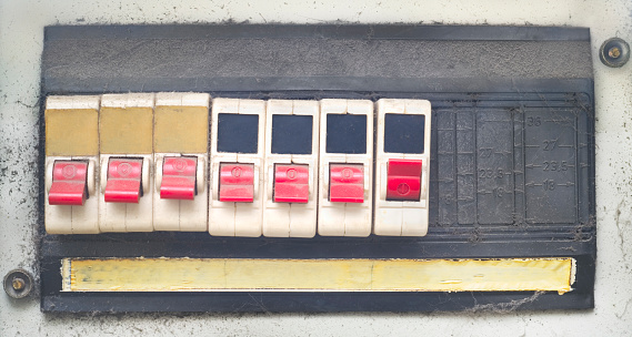 old rotten, grungy switches, free copy space, design template