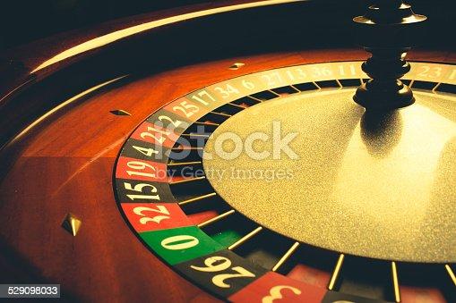 Old Roulette wheel (casino series). studio shot