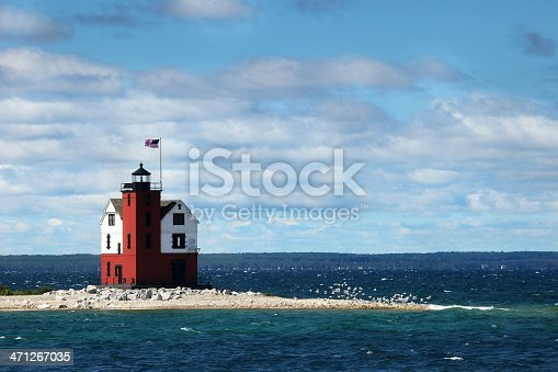 The Round Island Light, also known as the