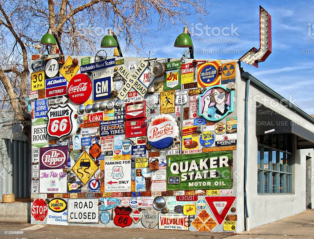Old Route 66 Roadside Attraction stock photo