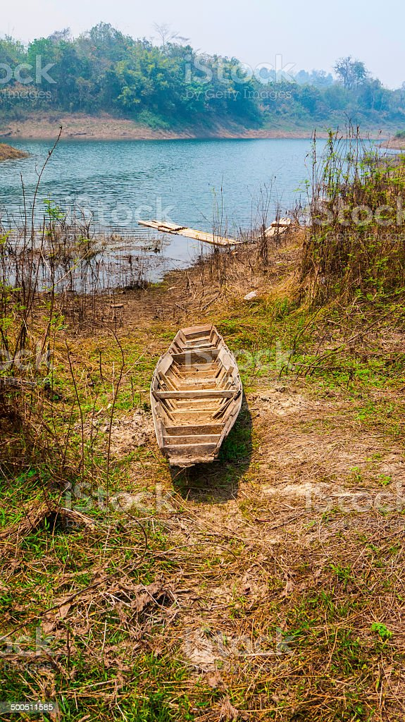 Old rowboat royalty-free stock photo
