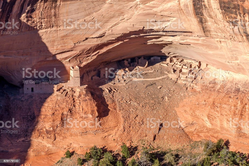 Old Ruin in Canyon de Chelly National Monument, Arizona-USA stock photo