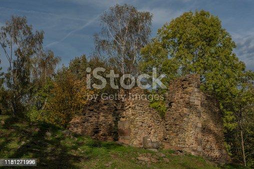 istock Old ruin of church of Saint Bartolomej near Besiny village in south Bohemia 1181271996