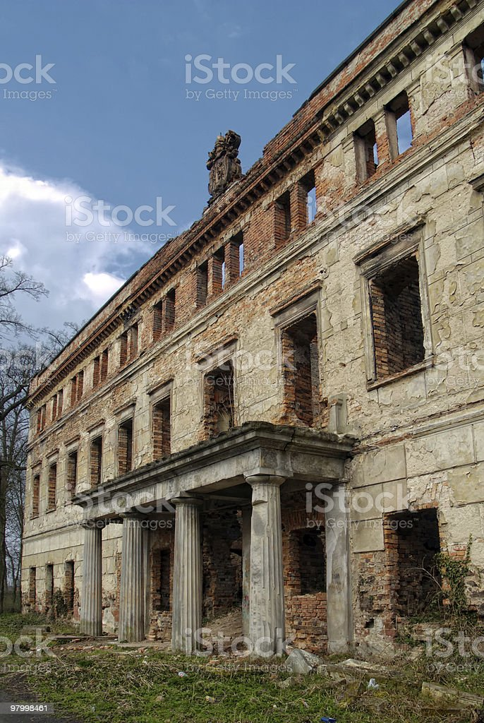 old ruin royalty free stockfoto
