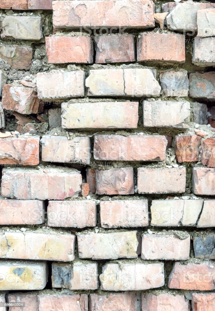 Old ruined brick wall as abstract background. Стоковые фото Стоковая фотография