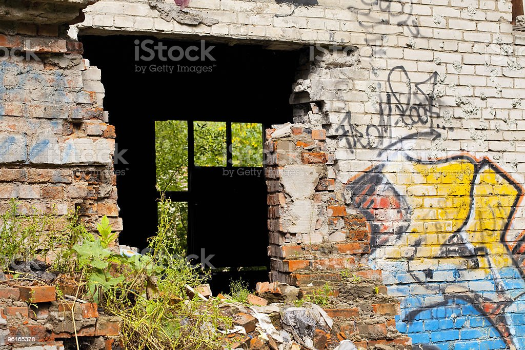 Old ruined building royalty-free stock photo