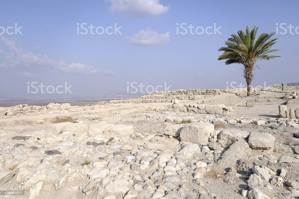 Old ruins from Tel Megiddo, Israel stock photo