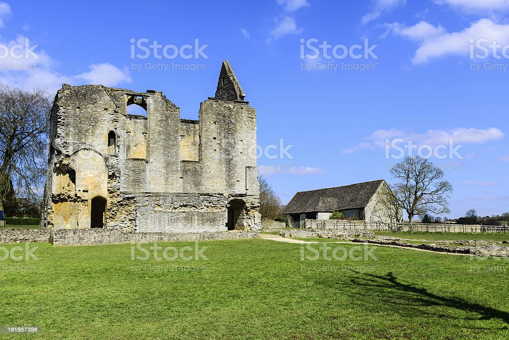 Old Ruins in Minster Lovell, Oxfordshire, England stock photo