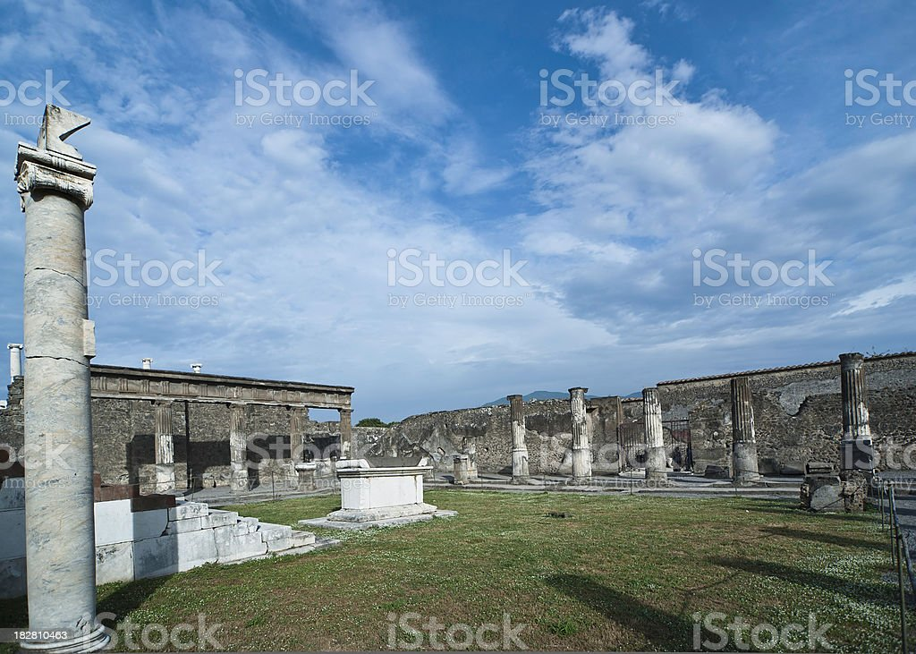 Old ruins of Apollo temple royalty-free stock photo