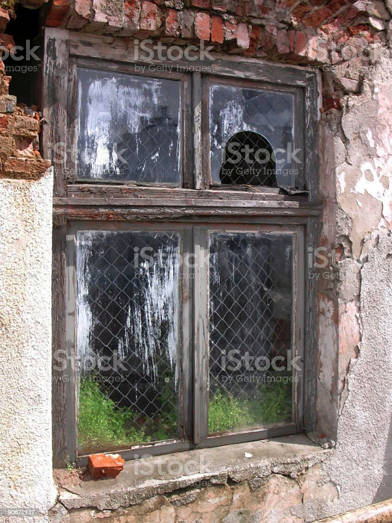 Old ruins-like Window royalty-free stock photo