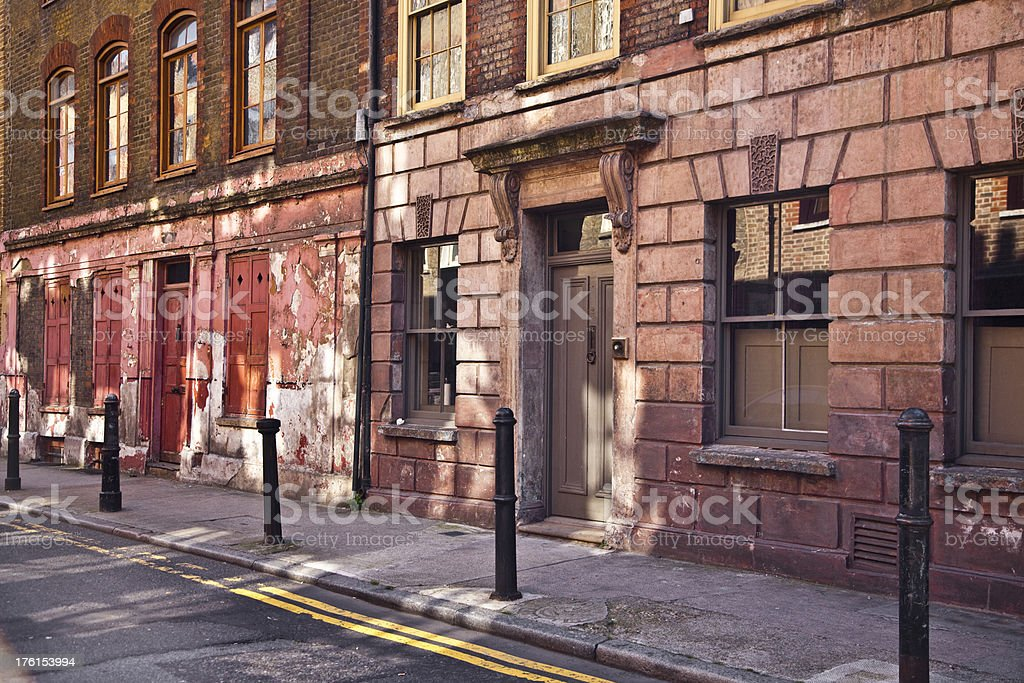 Old run down residential building royalty-free stock photo
