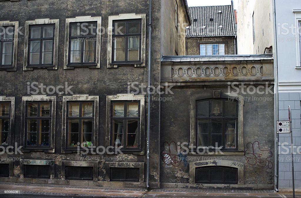 Old rundown building stock photo