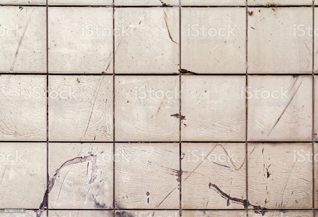 old rundown tiles stock photo