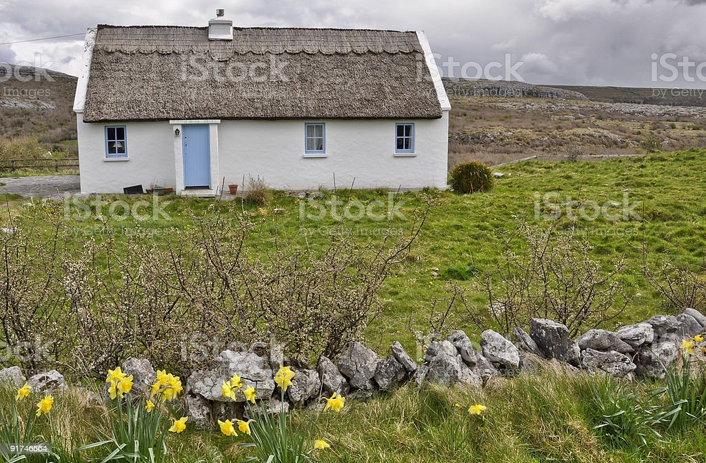 old rural cottage in the west of ierland stock photo