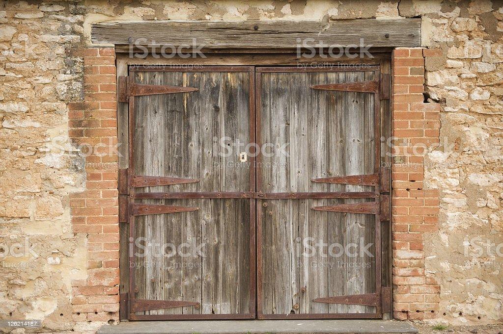 Old Rural Door royalty-free stock photo