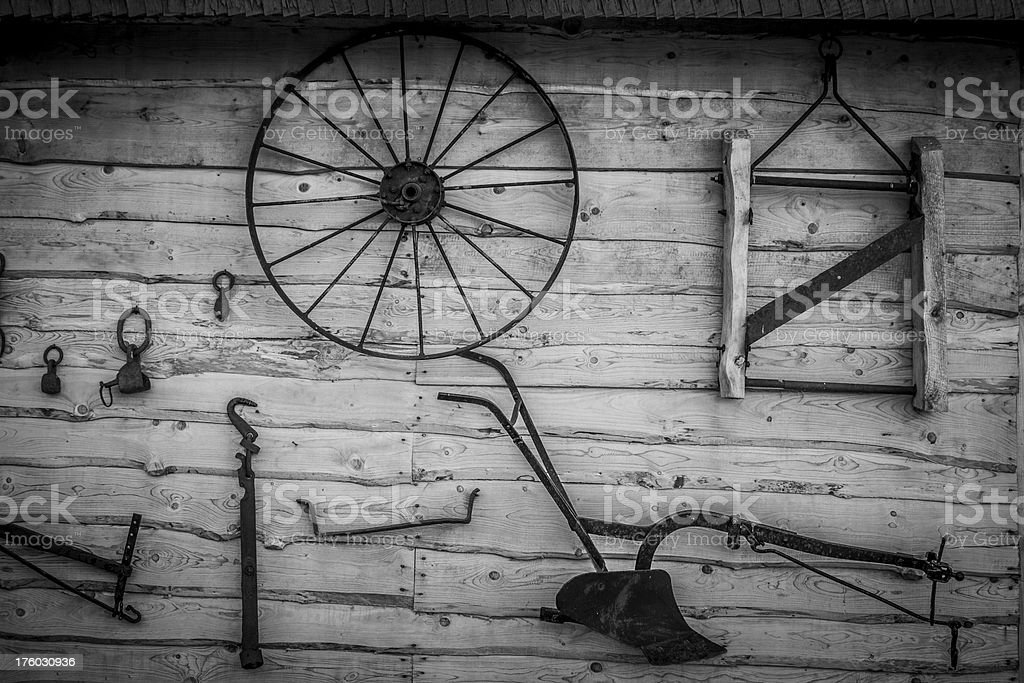 Old rural equipment royalty-free stock photo