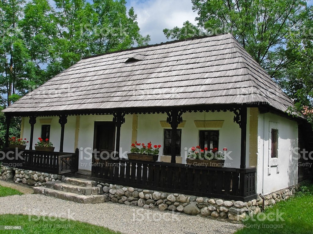 Old rural house stock photo