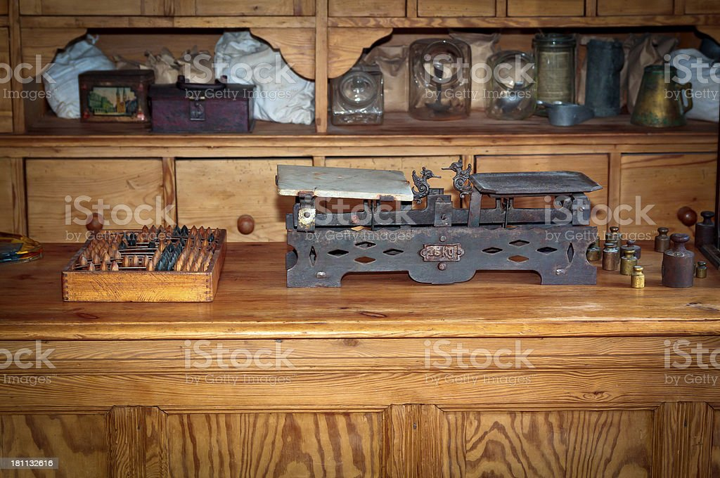 Old rural store royalty-free stock photo