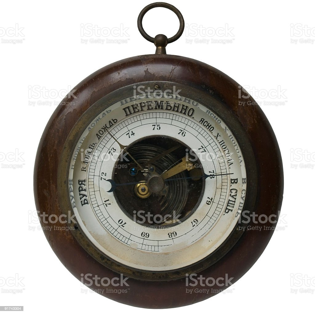 Old russian barometer royalty-free stock photo