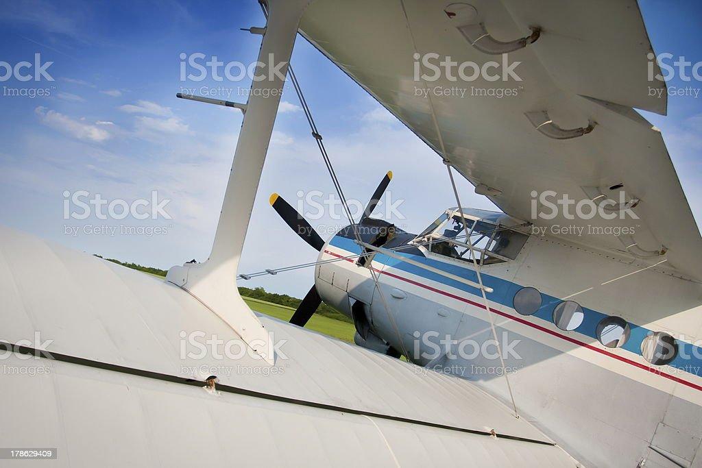 Old russian biplane An-2 stock photo