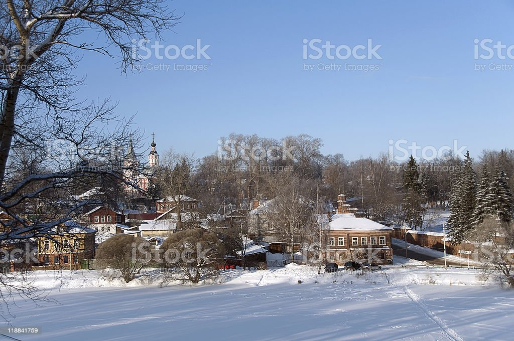 Old Russian city stock photo