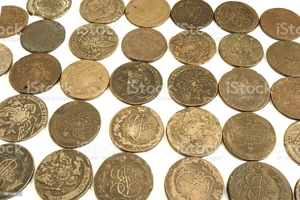 old russian coins royalty-free stock photo