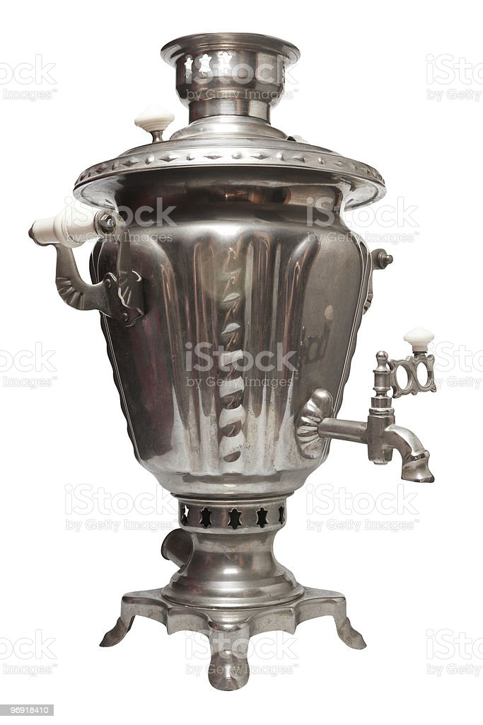 Old russian tea samovar. royalty-free stock photo