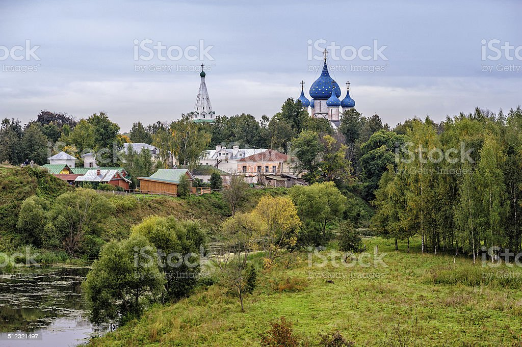 Old russian town Suzdal stock photo
