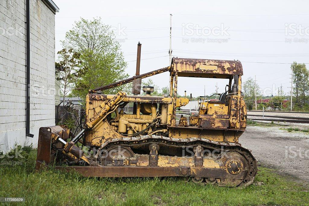 Alte verrostete Bulldozer Profil anzeigen – Foto