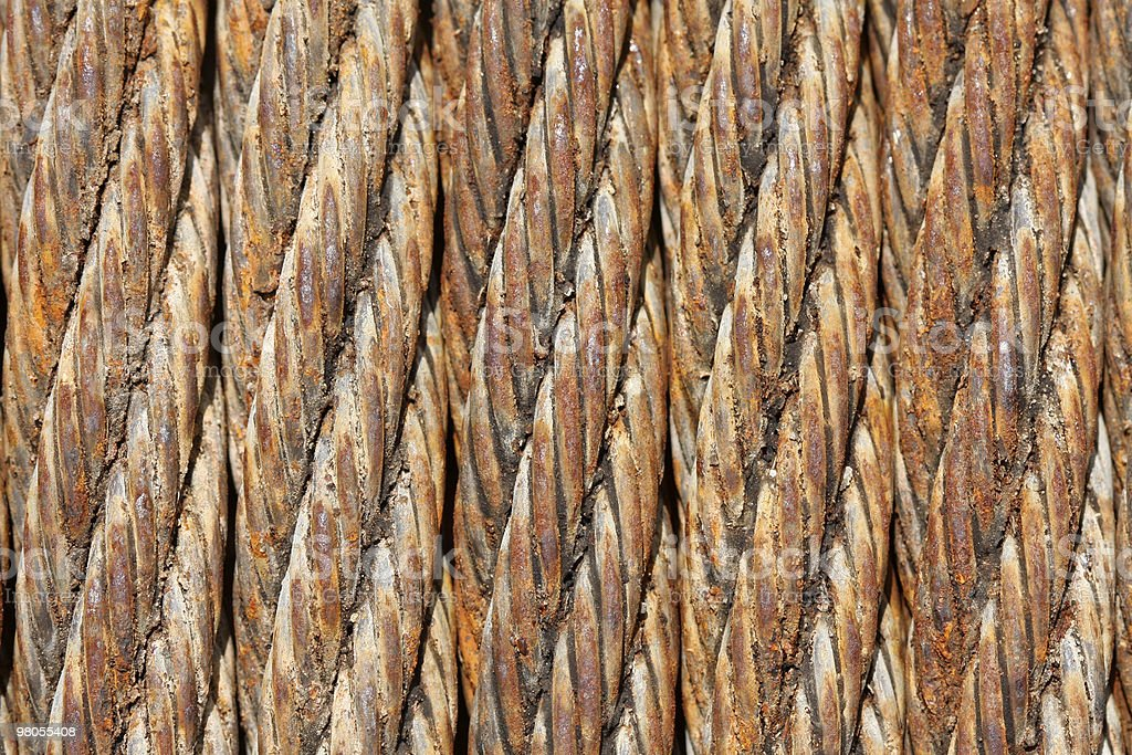 Old Rusted Industrial Metal Cable Background royalty-free stock photo