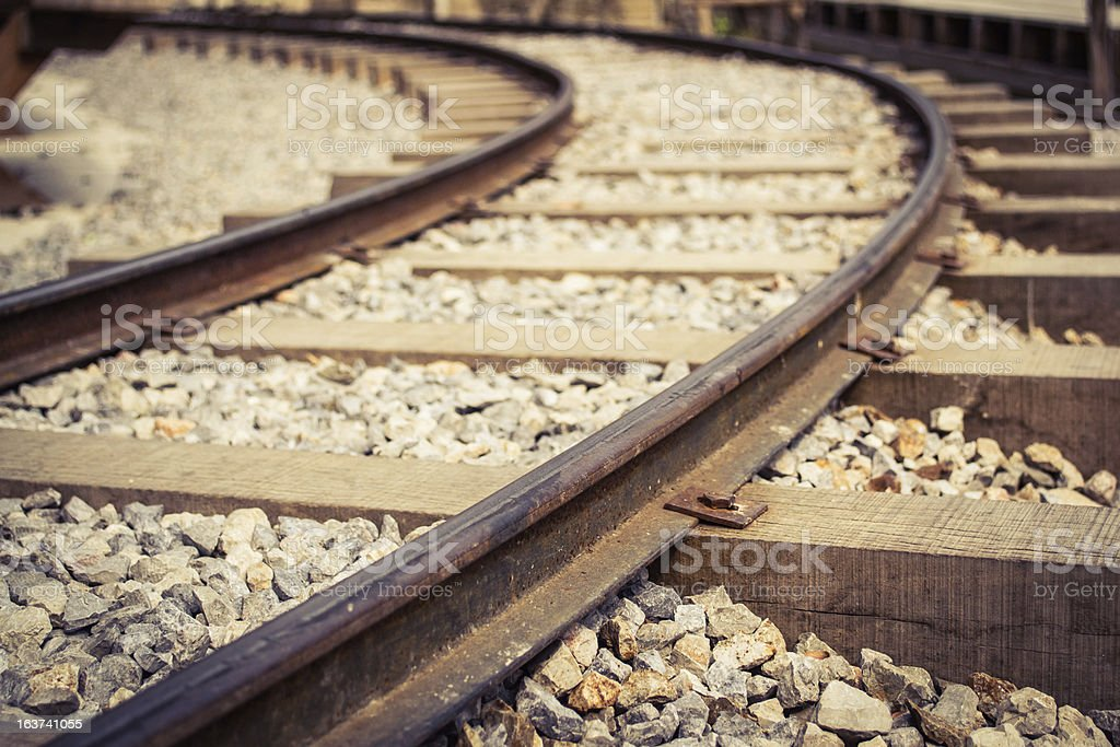 old rusted railway track royalty-free stock photo